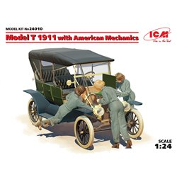 ICM 24010 1/24 Model T 1911 Touring with American Mechanics