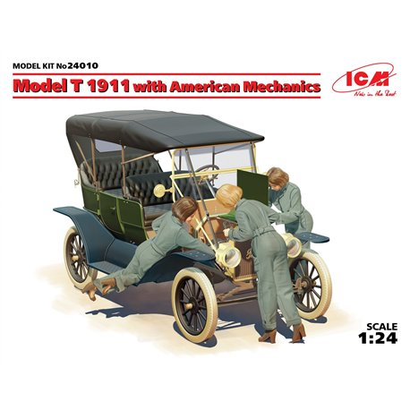 ICM 24010 1/24 Model T 1911 Touring with American Mechanics