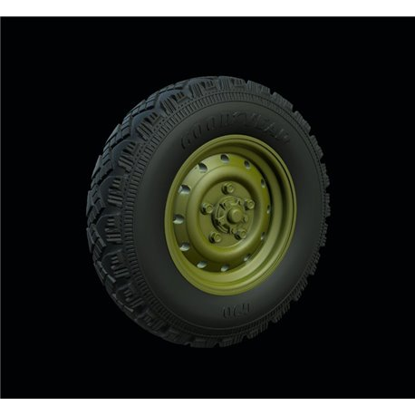 "PANZER ART RE35-542 1/35 Land Rover ""Defender"" Road wheels (Goodyear)"