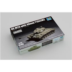 Trumpeter 07170 1/72 US M26 (T26E3) Pershing Heavy Tank 90mm T15E2M2 – WoT