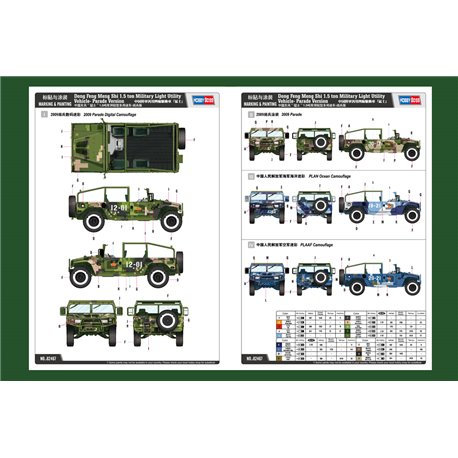 Hobby Boss 82467 1/35 Meng Shi 1.5 ton Military Light Utility Vehicle Parade Version