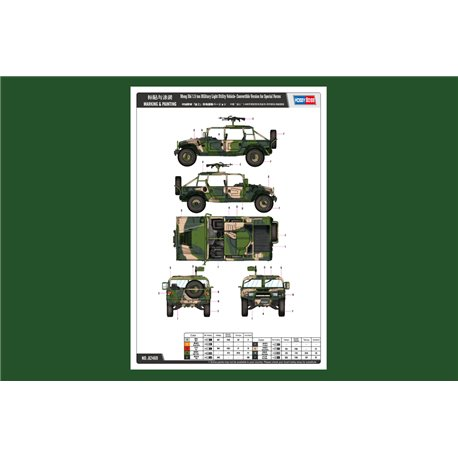 Hobby Boss 82469 1/35 Meng Shi 1.5 ton Military Light Utility Vehicle- Convertible
