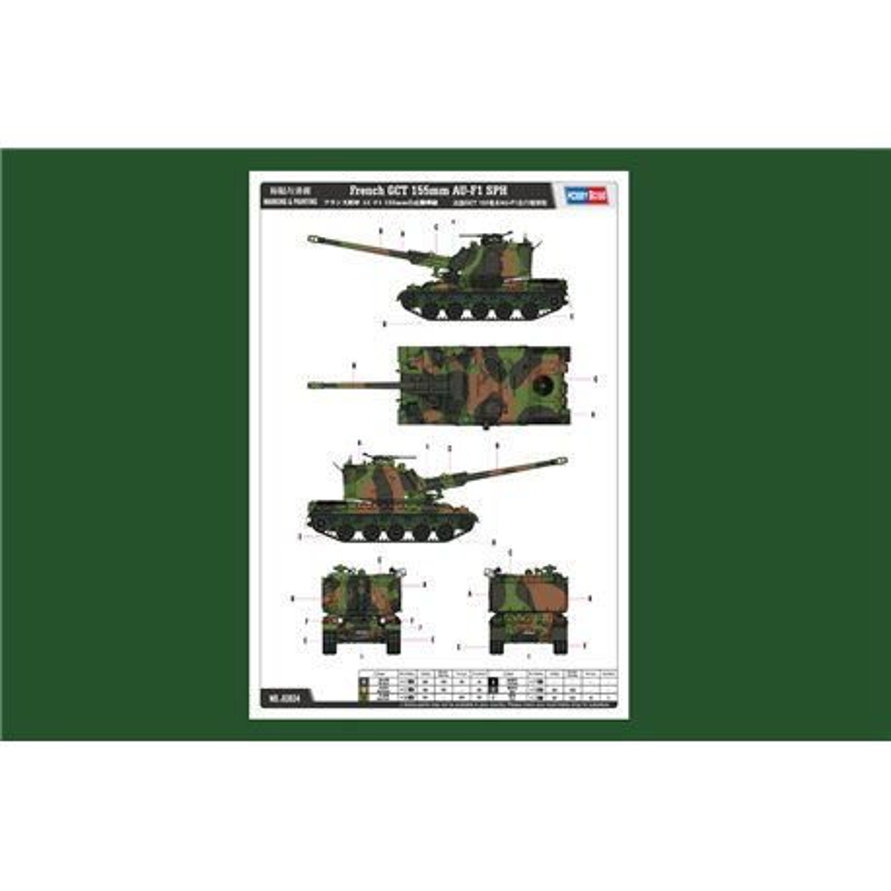 Hobby Boss 83834 1/35 French GCT 155mm AU-F1 SPH