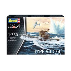 Revell 05154 1/350 German Submarine Type VIIC/41