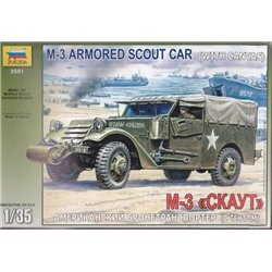 ZVEZDA 3581 1/35 M3 Armored Scout Car with canvas