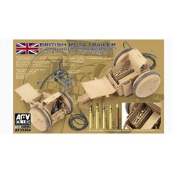 AFV Club AF35264 1/35 British Rota Trailer w/ 2 Pounder Ammunition Set