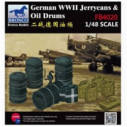 Bronco FB4020 1/48 German WWII Jerrycans & Oil Drums