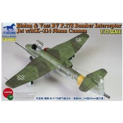 Bronco GB7002 1/72 Blohm & Voss BV P.178 Bomber Interceptor Jet w/MK-214 50mm