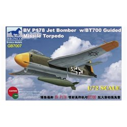 Bronco GB7007 1/72 Blohm & Voss BV P178 Jet Bomber with BT700 Guided Missile Torpedo