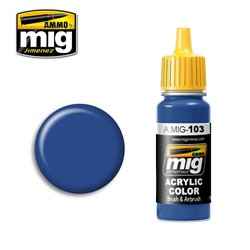 AMMO OF MIG A.MIG-0103 Acrylic Color Medium Blue 17ml