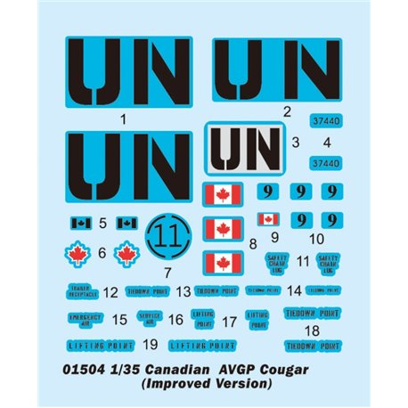 Trumpeter 01504 1/35 Canadian Cougar 6x6 AVGP (Improved version)