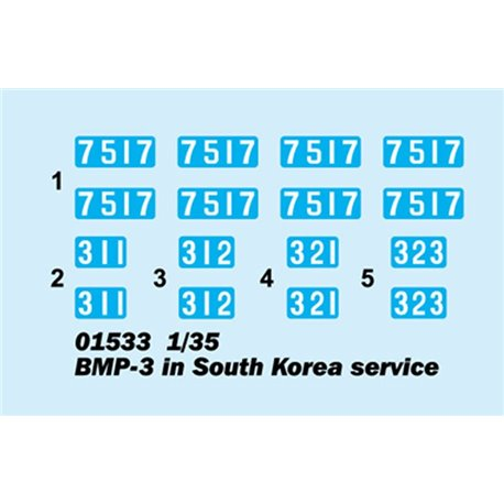 Trumpeter 01533 1/35 BMP-3 in South Korea service