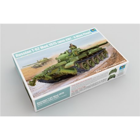 Trumpeter 01550 1/35 Russian T-62 Mod.1975 with KMT-6 mine plow