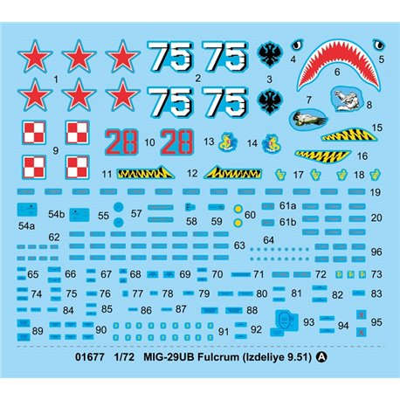 Trumpeter 01677 1/72 MIG-29UB Fulcrum (Izdeliye 9.51)