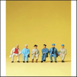 Preiser 14145 Figurines HO 1/87 Ouvriers assis - Seated workers