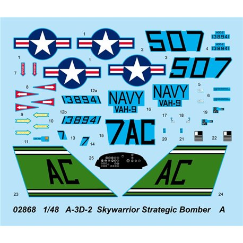 Trumpeter 02868 1/48 A-3D-2 Skywarrior Strategic Bomber