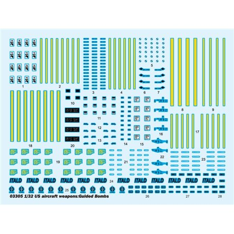 Trumpeter 03305 1/32 US aircraft weapons Guided Bombs