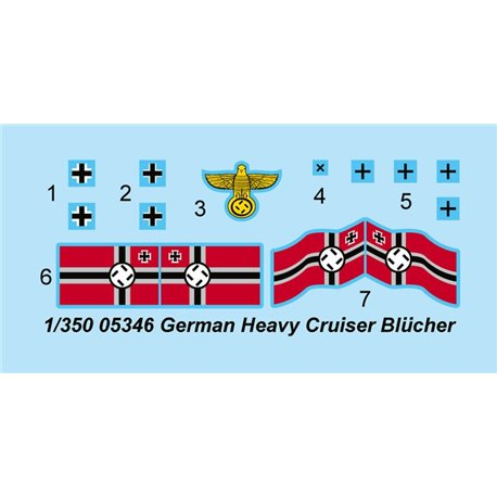 Trumpeter 05346 1/350 German Heavy Cruiser Blucher