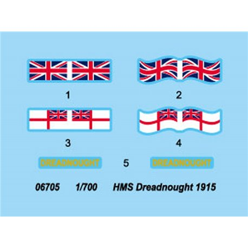 Trumpeter 06705 1/700 HMS Dreadnought 1915