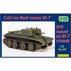 UNIMODELS 247 1/72 SPG Mount on BT-7 Chassis