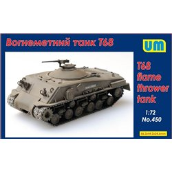 UNIMODELS 450 1/72 T68 flame thrower tank