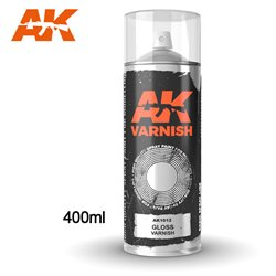 AK Interactive AK1012 Peinture Bombe VERNIS BRILLANT - GLOSS VARNISH 400ml