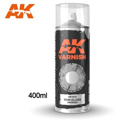 AK Interactive AK1014 Peinture Bombe VERNIS SATINE - SEMI GLOSS VARNISH 400ml