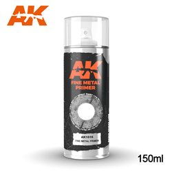 AK Interactive AK1016 Peinture Bombe FINE METAL PRIMER SPRAY 150ml