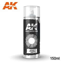 AK INTERACTIVE AK1019 Peinture Bombe GREAT BLANC - WHITE BASE SPRAY 150ml