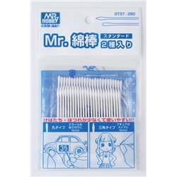 GUNZE Mr Hobby GT37 Coton 25 Ronds 25 Pointus – Cotton Swab Two – Type
