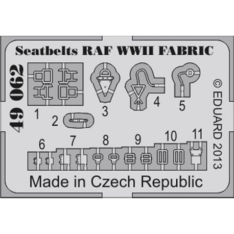 Eduard 49062 1/48 Seatbelts RAF WWII FABRIC
