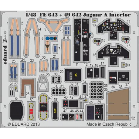 Eduard 49642 1/48 Jaguar A interior S. A. Kitty Hawk