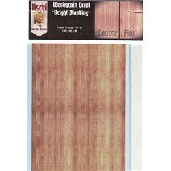 "Uschi Van Der Rosten 1010 1/48 1/32 1/35 Scale Woodgrain Decal ""Bright Planking"""