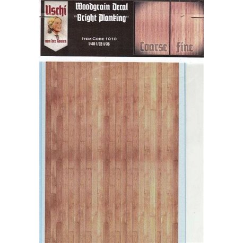 """Uschi Van Der Rosten 1010 1/48 1/32 1/35 Scale Woodgrain Decal """"Bright Planking"""""""