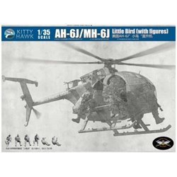 Kitty Hawk KH50004 1/35 AH-6J/MH-6J Little Bird (with figures)