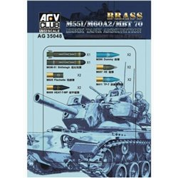 AFV Club AG35048 1/35 152mm Tank Ammuntiton for M551/M60A2/MBT 70 Brass