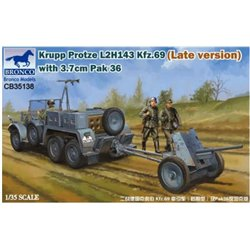 BRONCO CB35138 1/35 Krupp Protze L2H143 Kfz.69 (Late version) with 3.7cm Pak 36