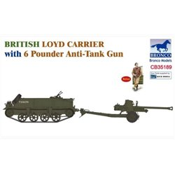 BRONCO CB35189 1/35 British Loyd Carrier with 6 Pounder Anti-Tank Gun