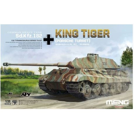 Meng TS-037 1/35 German heavy tank Sd.Kfz.182 Kingtiger (Porsche Turret)