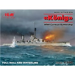 ICM S.014 1/700 WWI German Battleship König (Full Hull OR Waterline)