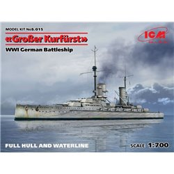 ICM S.015 1/700 WWI German Battleship Großer Kurfürst (Full Hull OR Waterline)