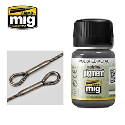 AMMO OF MIG A.MIG-3021 Pigment Polished Metal 35ml