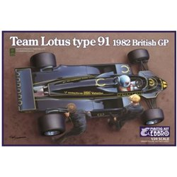 EBBRO 20012 1/20 Team Lotus Type 91 1982 British GP