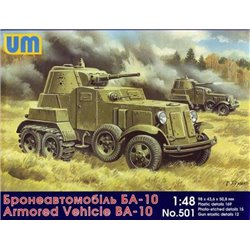 UNIMODELS 501 1/48 Soviet heavy armored vehicle BA-10