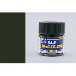 GUNZE Mr Color C15 IJN GREEN NAKAJIMA SEMI-GLOSS 10ml