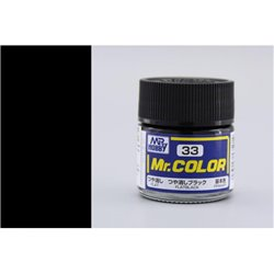 GUNZE Mr Color C33 FLAT BLACK 10ml