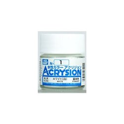 GUNZE Mr Hobby Acrysion Color N001 WHITE 10ml