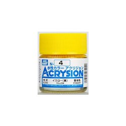 GUNZE Mr Hobby Acrysion Color N004 YELLOW 10ml