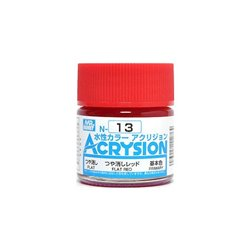 GUNZE Mr Hobby Acrysion Color N013 FLATRED 10ml