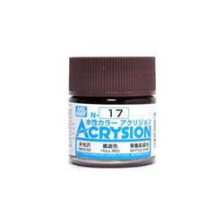GUNZE Mr Hobby Acrysion Color N017 HULLRED 10ml